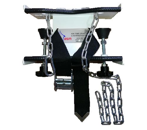 Tezgah tipi tup sabitleme aparati zincirli 500x442